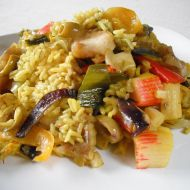 Rybí paella z tresky recept