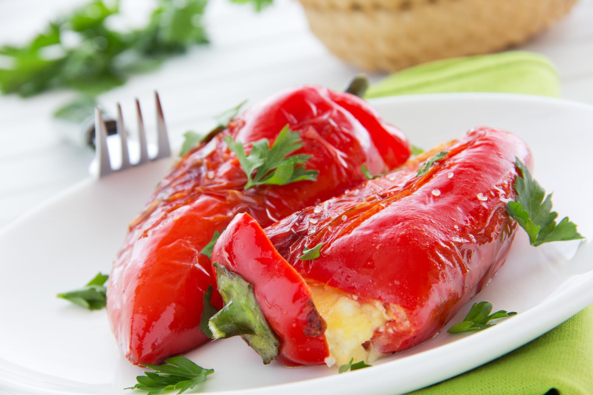 Grilované papriky s fetou recept
