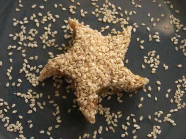 Sezamové kostičky (v mém případě hvězdičky)