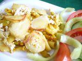 Brambory zapékané s tofu a fazolkami recept