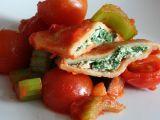 Taštičky plněné špenátem a ricottou se zleninovou směsí recept ...