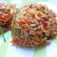 Smažená rajčatová rýže s olivami recept