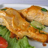 Losos pečený v pikantní majonéze recept