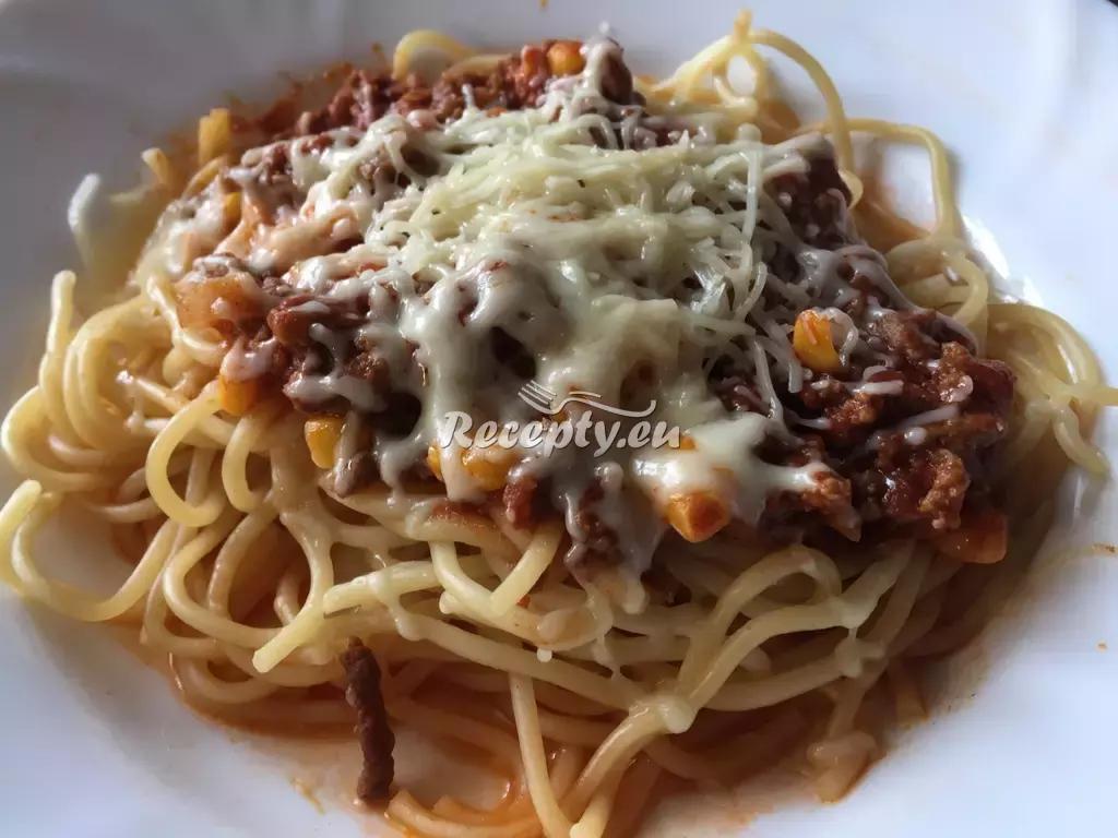 Špagety s kečupovou omáčkou recept  těstoviny