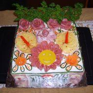 Slaný dort smajlík recept