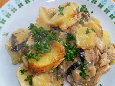 Recept Zapečené brambory s lilkem