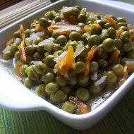 Dušený hrášek s mrkví recept