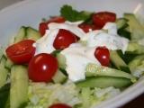 Lehký a rychlý zeleninový salát recept
