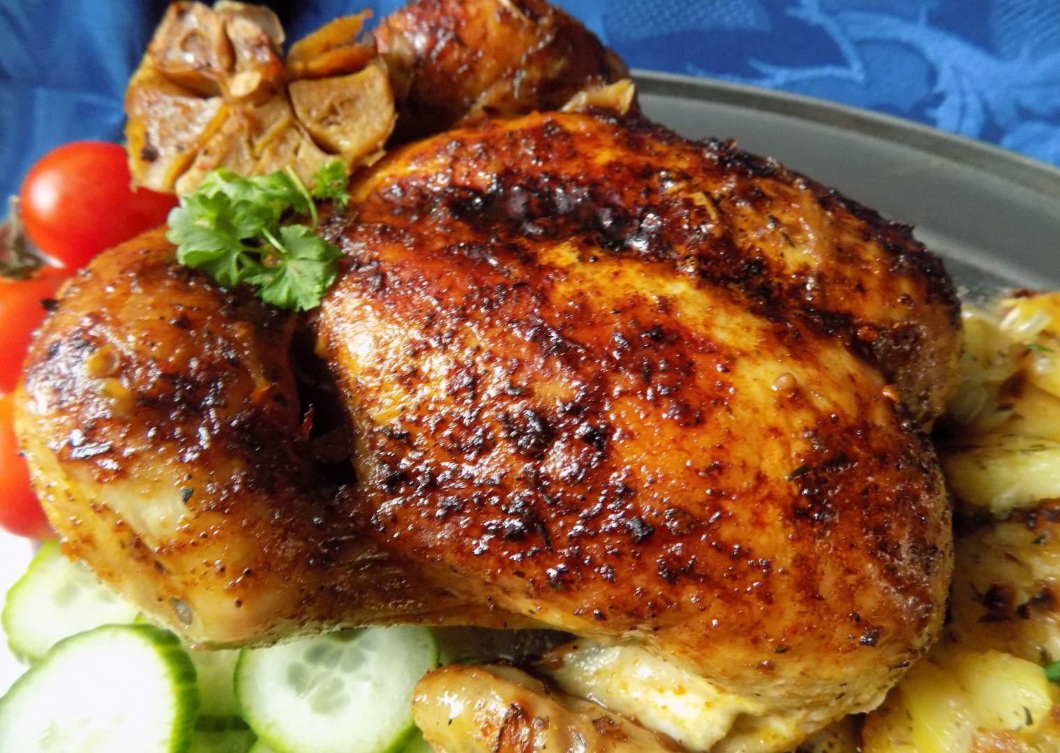 Pomalu pečené kuře v pečícím sáčku na cibuli recept