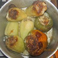 Plněné zapékané papriky recept