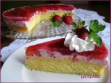 Letní koláč s jahodovým tvarohem recept