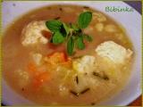 Zeleninová polévka se sýrovými knedlíčky recept