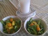 Polníčkový salát s ovocem recept
