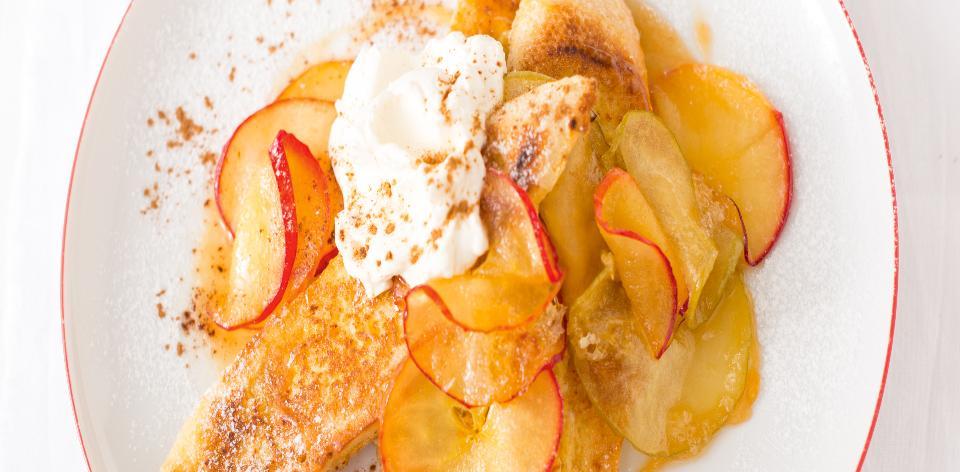 Francouzský toust s jablky
