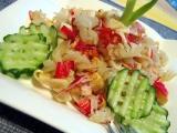 Krabí tyčinky s těstovinami recept
