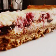 Čokoládovo-mléčný cheesecake s malinami recept