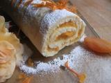 Meruňkovo-pomerančová roláda recept