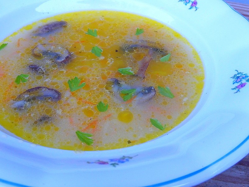 Velerychlá zeleninová polévka se žampiony recept