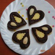 Mandlová srdíčka s krémem recept