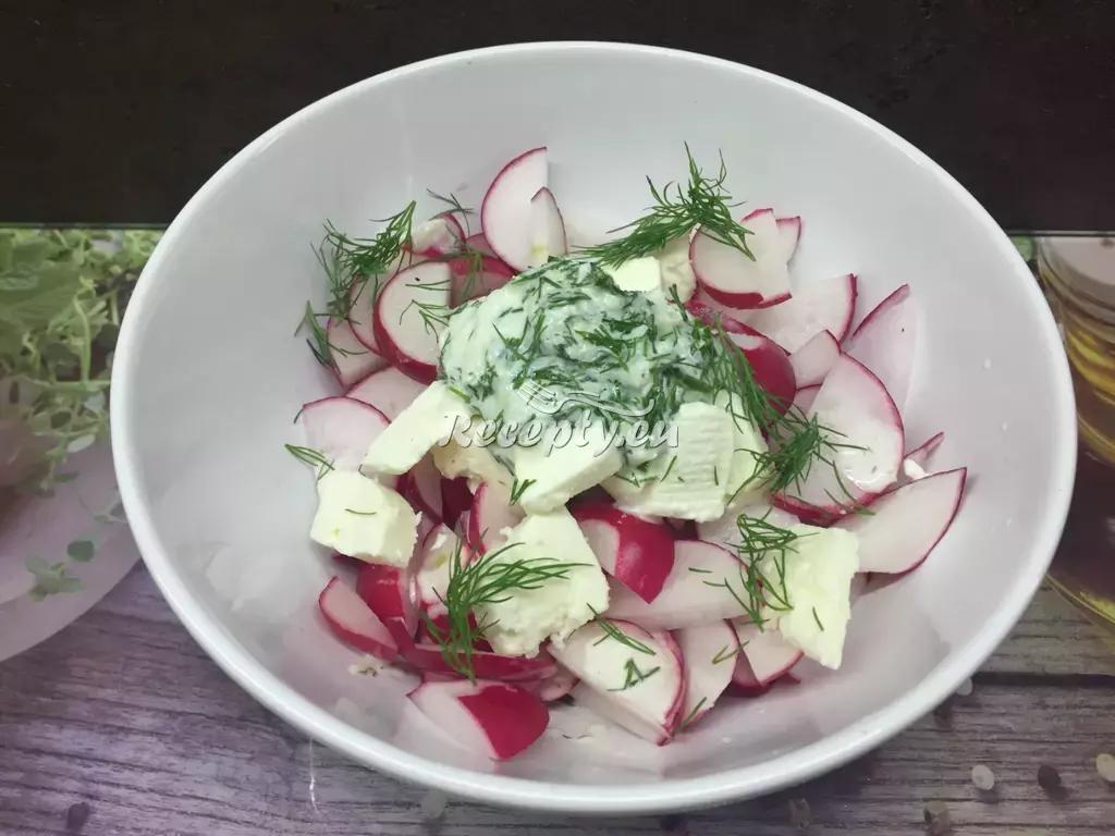 Ředkvičkový salát II. recept  saláty