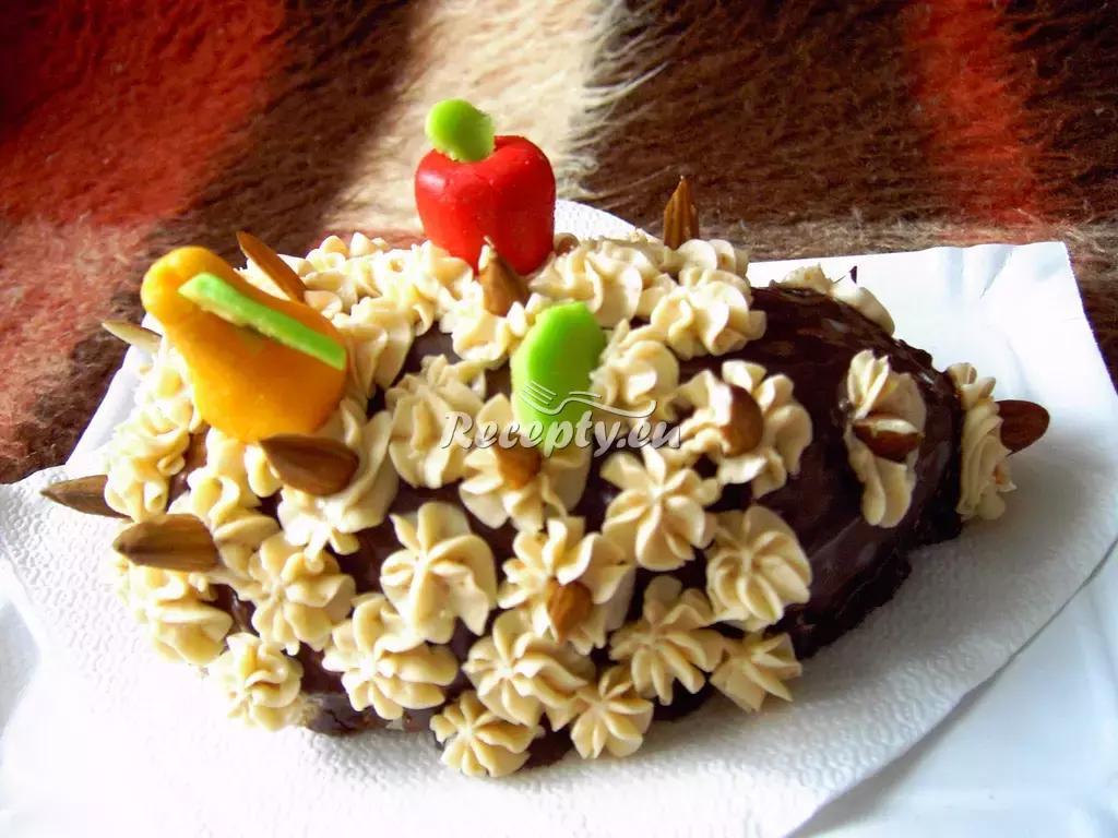 Velikonoční dort ve tvaru ježka pro děti recept  slavnostní pokrmy ...