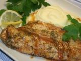 Rybička hoki v marinádě na bramborovo-celerovém pyré recept ...