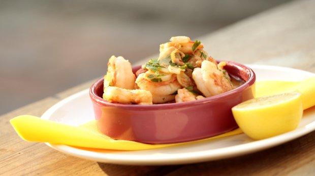 Krevety s česnekovým olejem