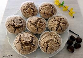 Kaštanovo-vanilkové muffiny se semínky bez lepku, mléka a vajec ...