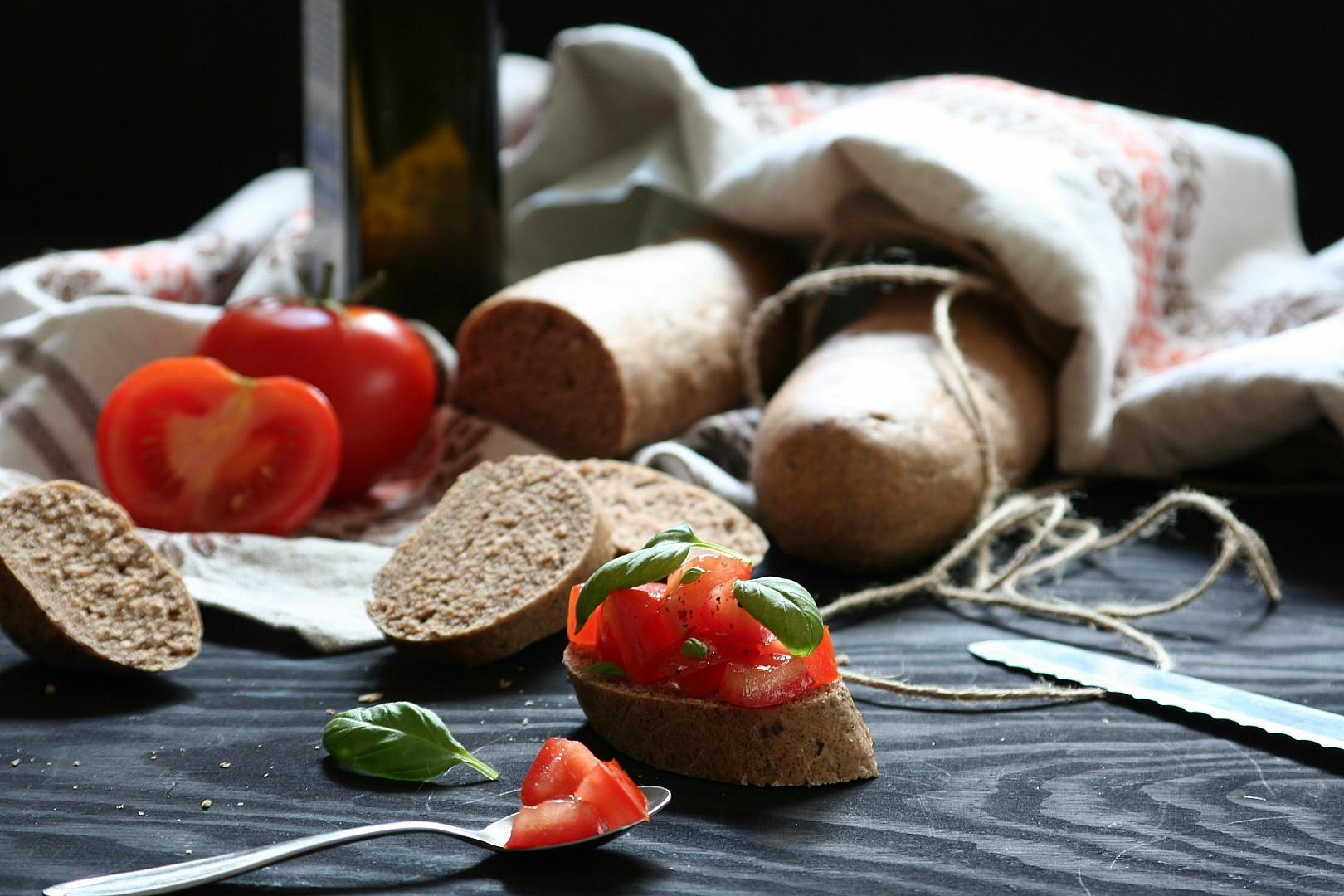 Celozrnné špaldové bagetky recept