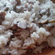Risotto s klobásou a houbami recept