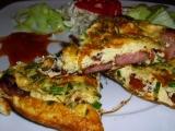 Klobásovo-šunková omeleta recept