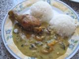 Kuře na kari se žampiony recept