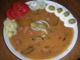 Houbový guláš obložený recept