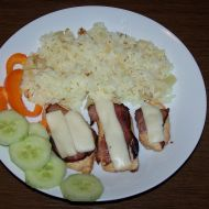 Kuřecí plátky se slaninou a sýrem recept