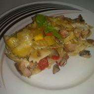 Zapečené těstoviny se zeleninou a kabanosem recept