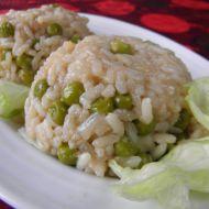 Dušená rýže s hráškem recept