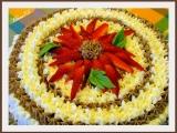 Ořechový dort s pudinkovým krémem recept