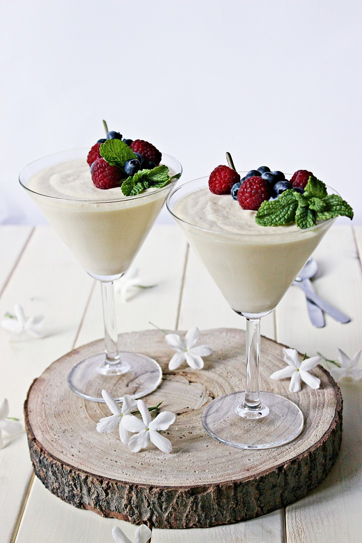 Bílá pěna (mousse) recept