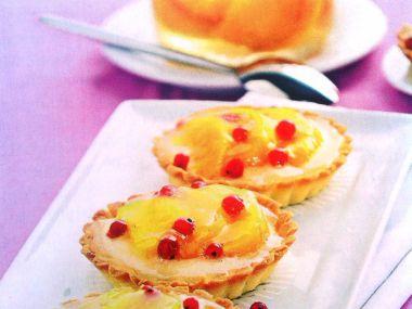 Meruňkové tarteletky s pudinkem