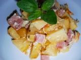 Zapékané brambory se slaninou recept
