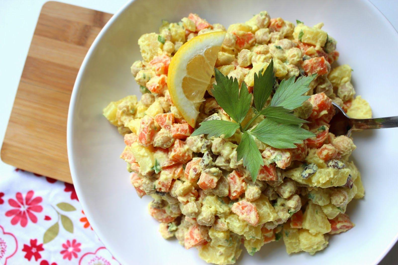 Bramborový salát s cizrnou recept