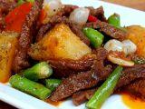 Pikantní hovězí nudličky se zeleninou a bramborem recept ...