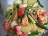 Lehký salát s lososem recept