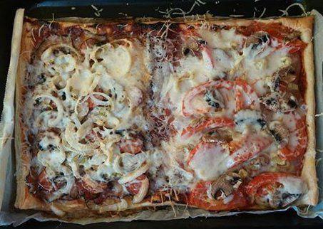 Rychlá domácí pizza na listovém těstě recept