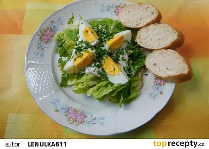 Hlávkový salát s vařenými vejci recept