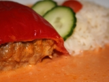 Plněné papriky ve šlehačkové omáčce recept