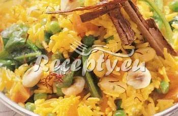 Rýže s kořením a zeleninou recept  rýžové pokrmy