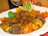 Vepřová játra zapečená s bramborem recept