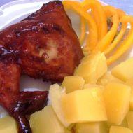 Kuřecí čtvrtky na medu a pepři recept
