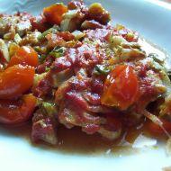 Pečená treska na rajčatech recept